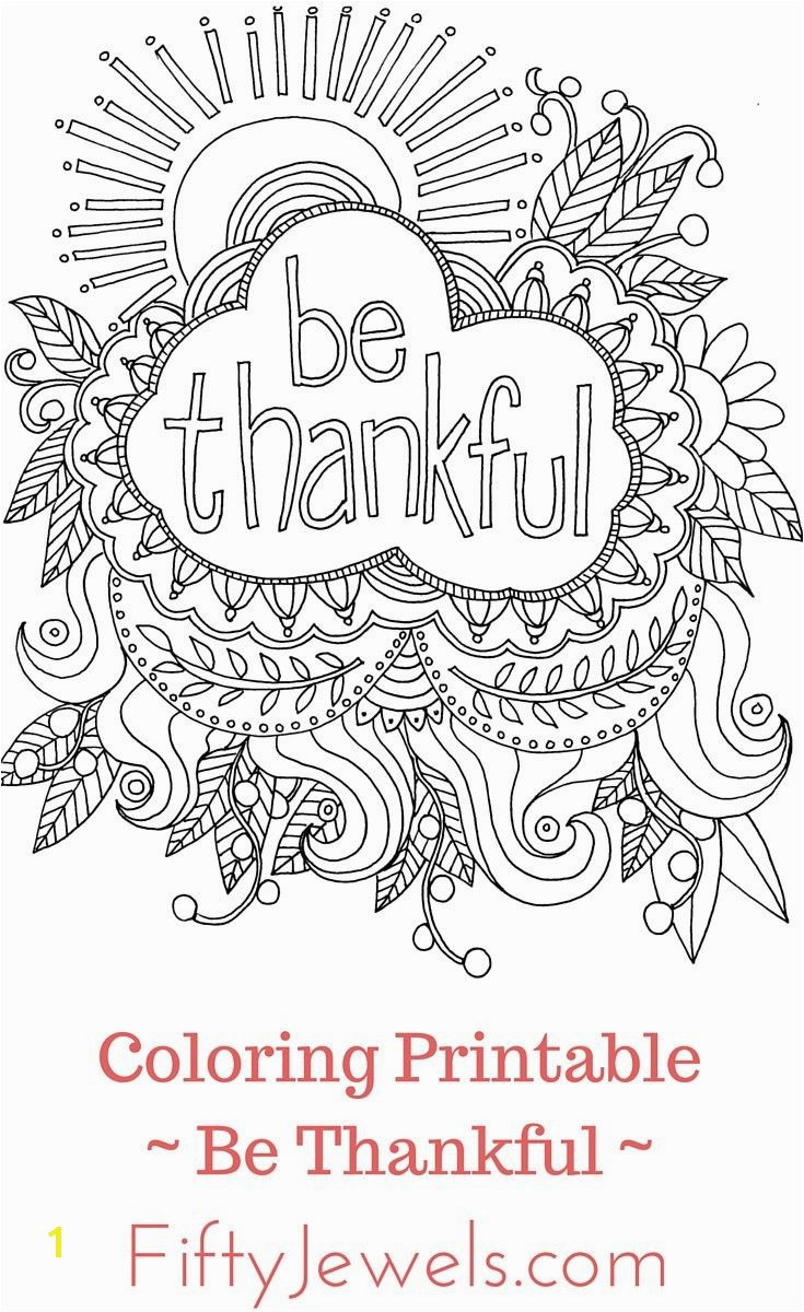 Being Thankful Coloring Pages