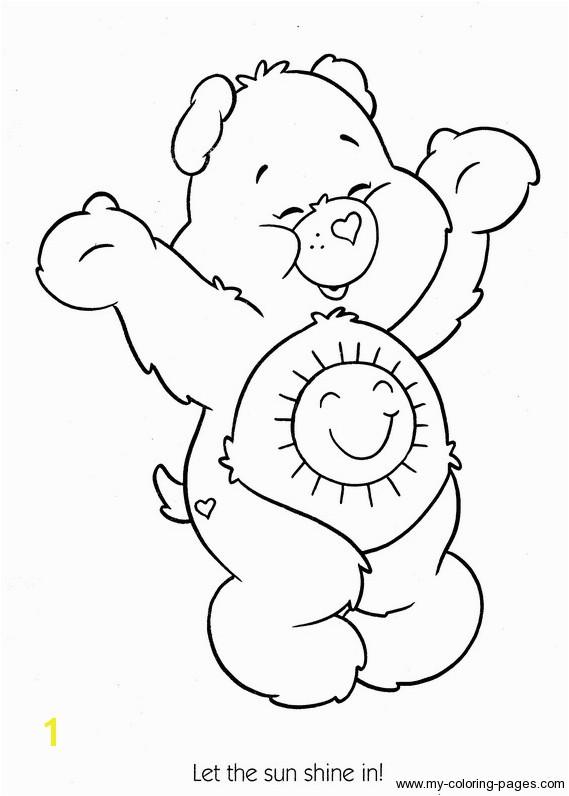 care bears sunshine bear coloring printable page care bears sunshine bear coloring printable page colori and