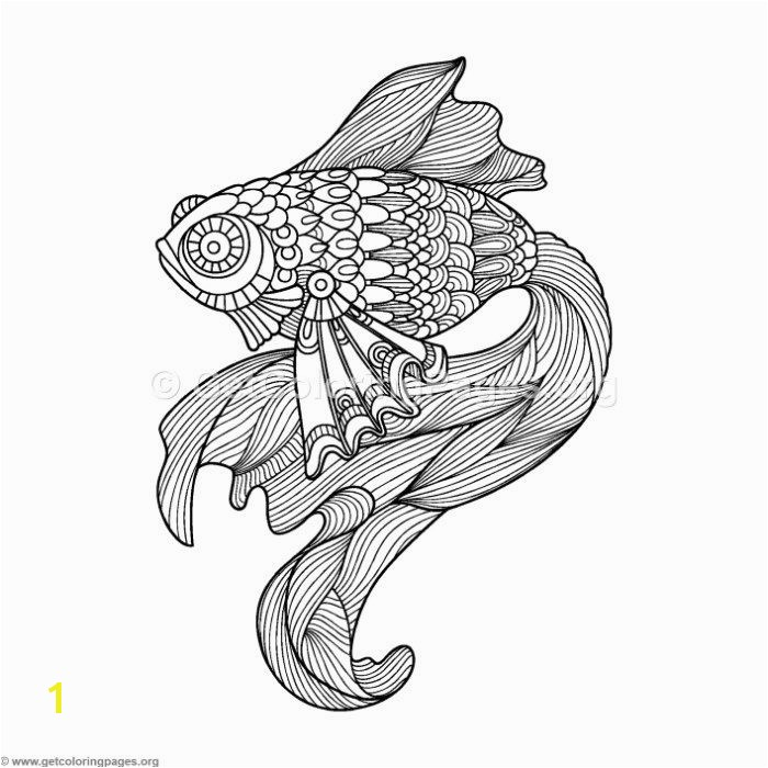 Betta Fish Coloring Pages 10 Zentangle Fish Printable Coloring Page