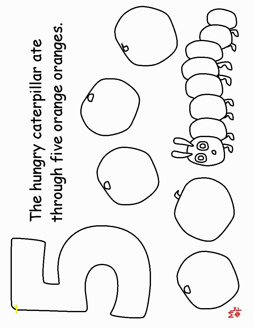 Very Hungry Caterpillar Printable Coloring Sheets Pages Free For The