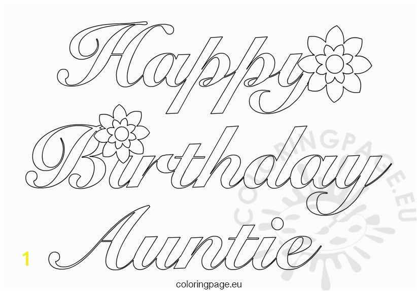 magic birthday coloring pages for aunts auntie