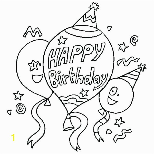 Happy Birthday Coloring Page Happy Birthday Coloring Page Happy Birthday Coloring Sheet Happy Birthday Coloring Page line Printable For Happy Birthday
