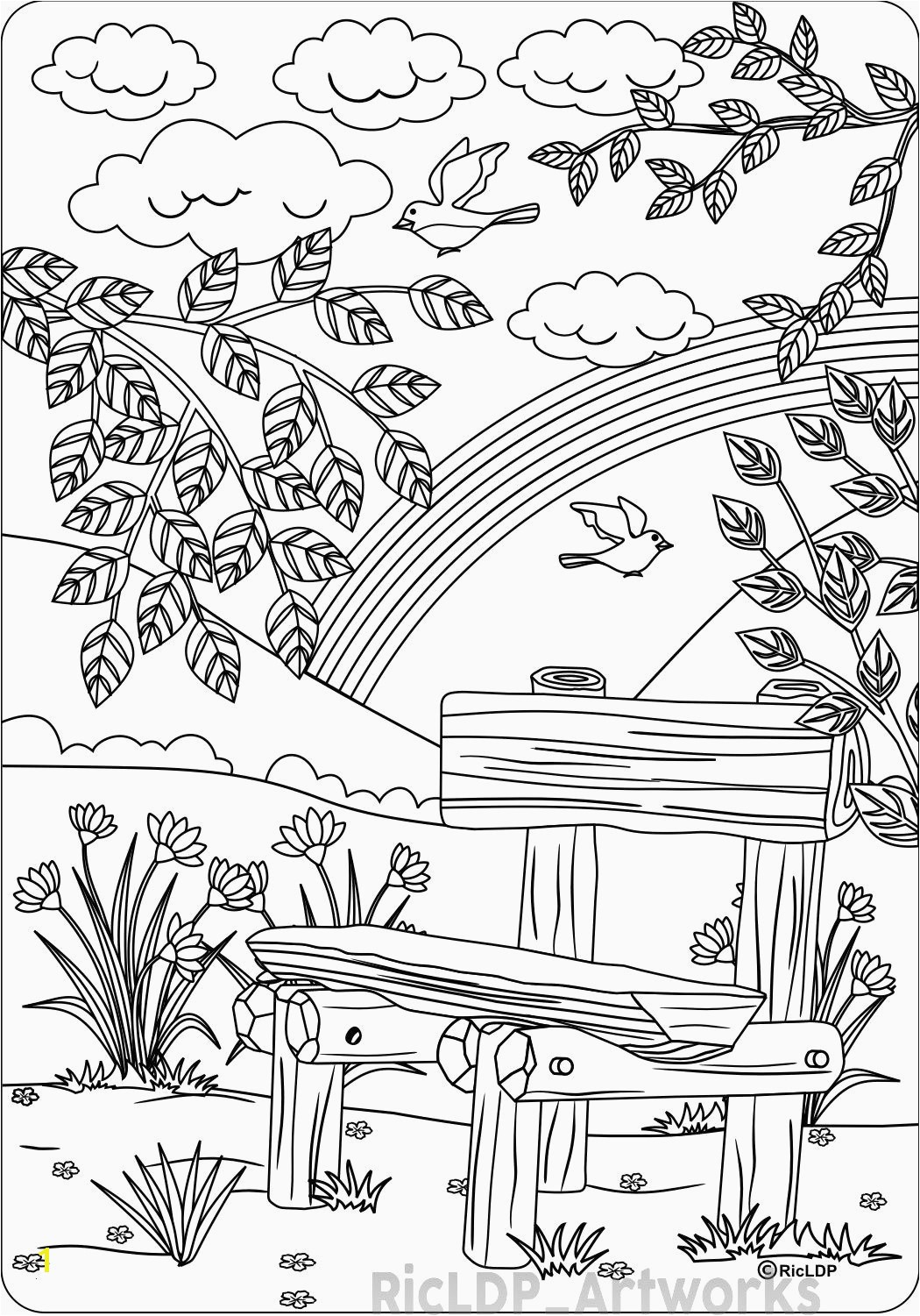 14 Inspirational Birthday themed Coloring Pages Image