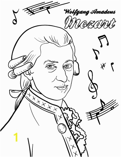 Printable Mozart coloring page Free PDF at pages mozart