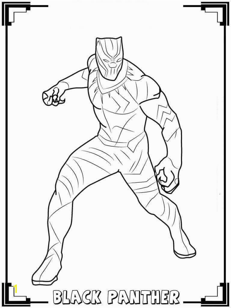 Black Panther Superhero Coloring Pages Black Panther Coloring Pages Black Panther Pinterest