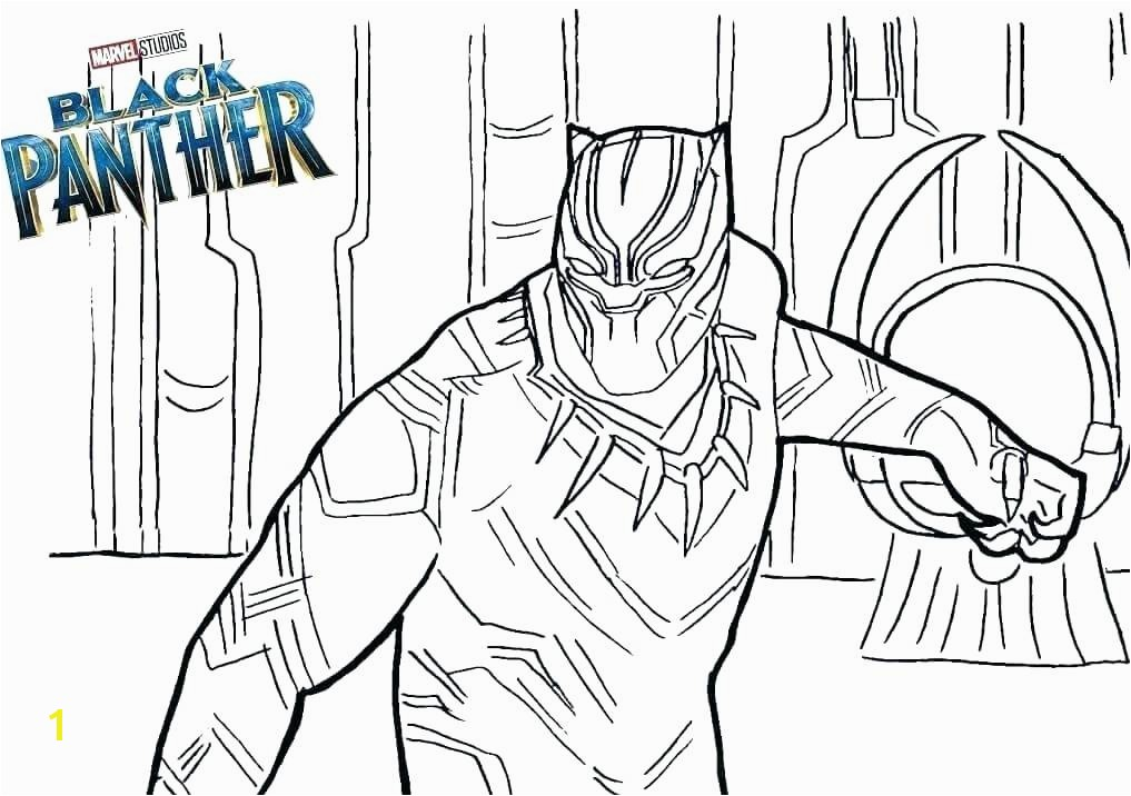 the Black Panther In Marvel coloring pages