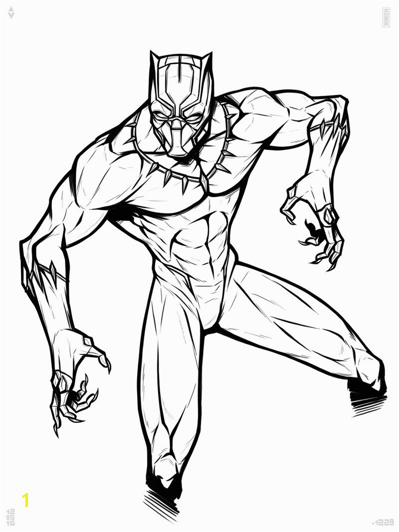 Black Panther Superhero Coloring Pages Black Panther Superhero Coloring Page A K Bfo