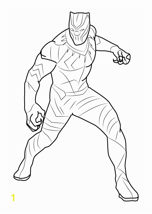 the Marvel Black Panther coloring pages