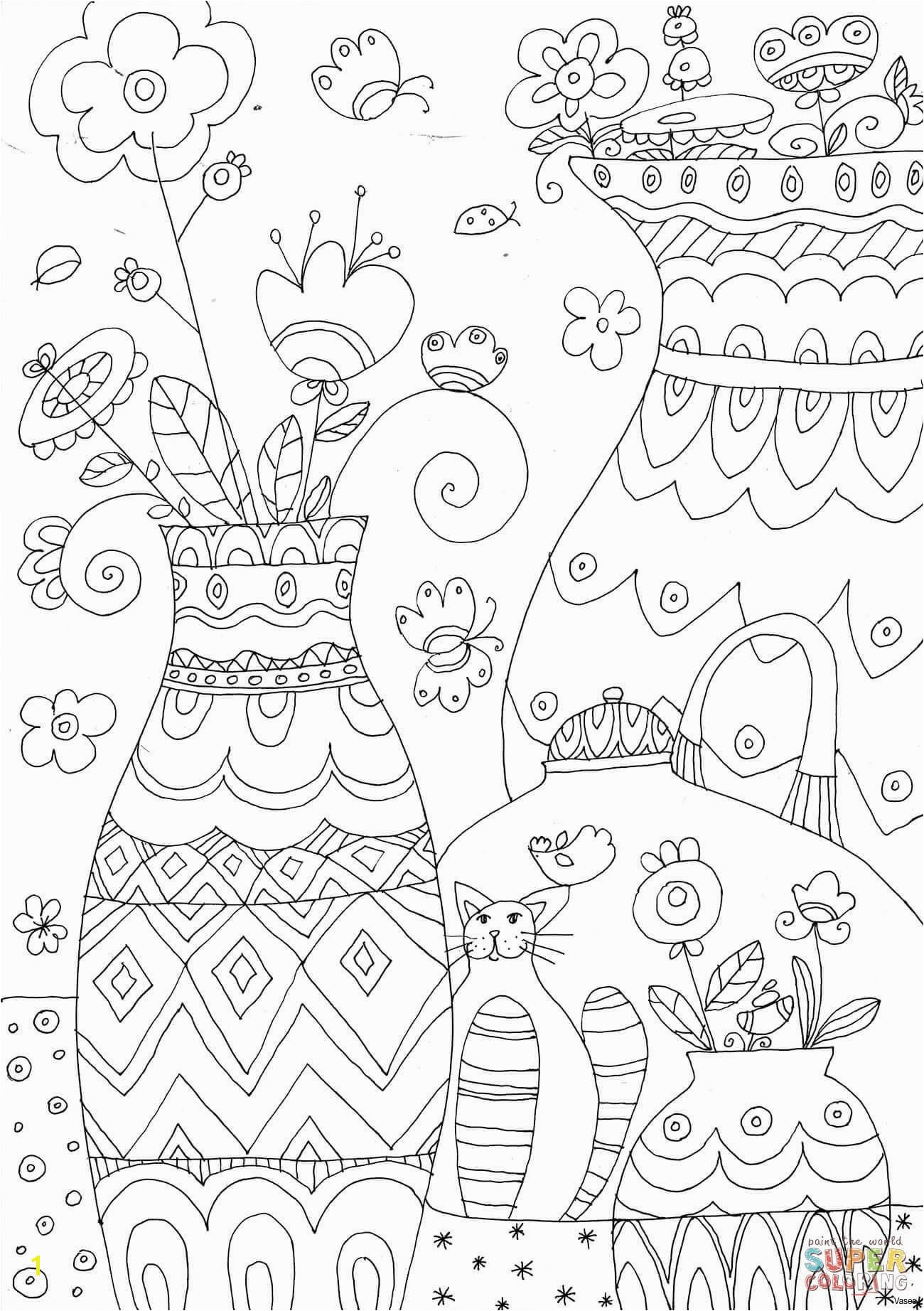 Coloring Pages to Color Best Page to Color Vases Flowers In Vase Coloring Pages A