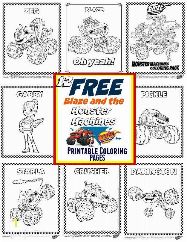 Blaze And The Monster Machines Party Ideas Free Printable Coloringblaze Monster Truck Coloring Pages