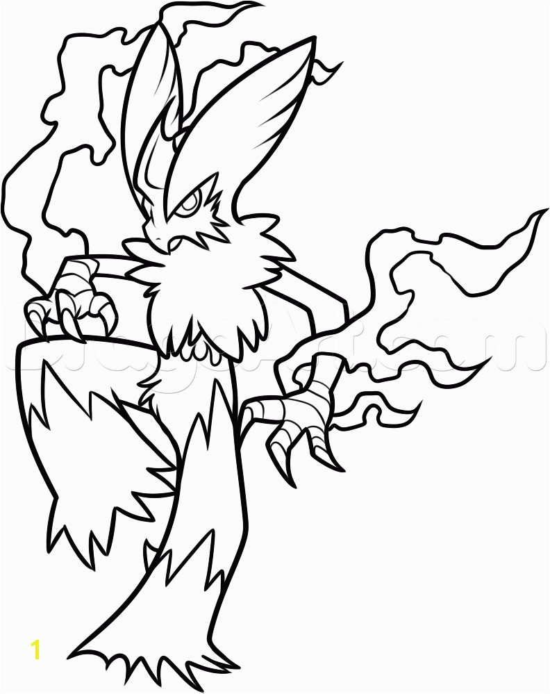 Pokemon Mega Blaziken Coloring Pages Collection 16 P Page