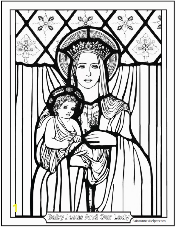 Christmas Coloring Pages Beautiful picture of Jesus and Mary Mother and Child
