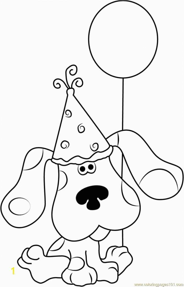 Blues Clues Coloring Pages Birthday Blues Clues Coloring Pages Download