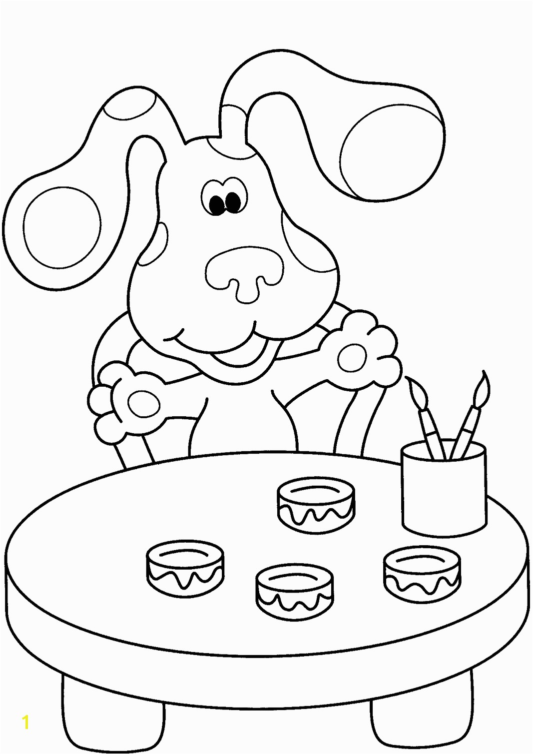 Nick Jr Blue39s Clues Coloring Pages Within Blues Clues Coloring Pages