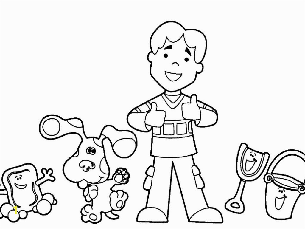 Best Rare Blues Clues Coloring Book Free Sheets Download Pages 2910 3942