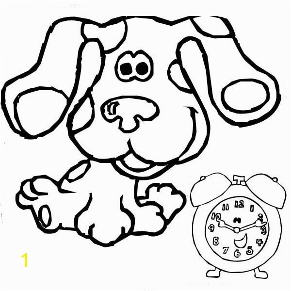 Tickety Blues Clues Printable Blues Clues and Tickety tock Coloring Page Blues Clues and Tickety