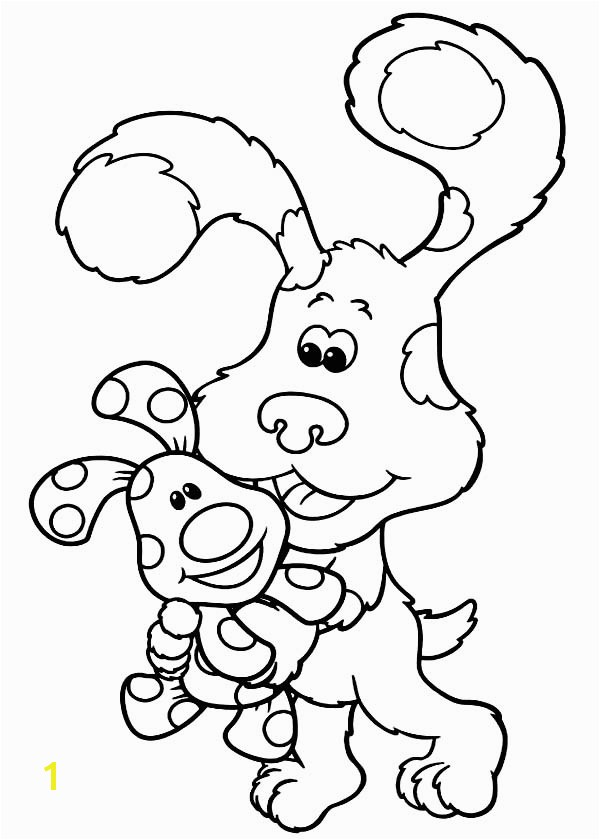 Blues Clues Blues Clues Holding Magenta Coloring Page Blues Clues Holding Magenta Coloring PageFull