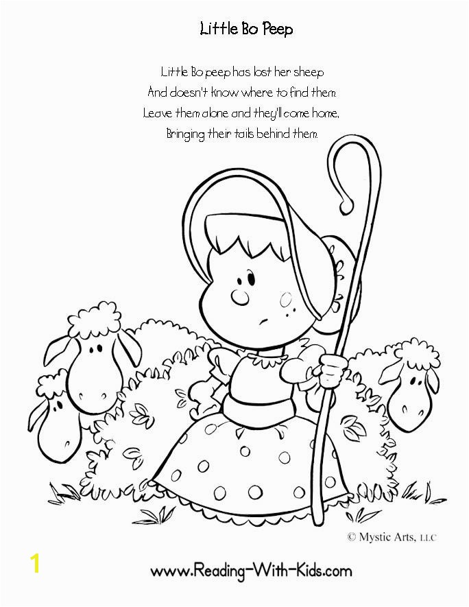 Bo the Go Coloring Page Amazing Nursery Rhymes Coloring Pages toddlers Colouring to Tiny Draw
