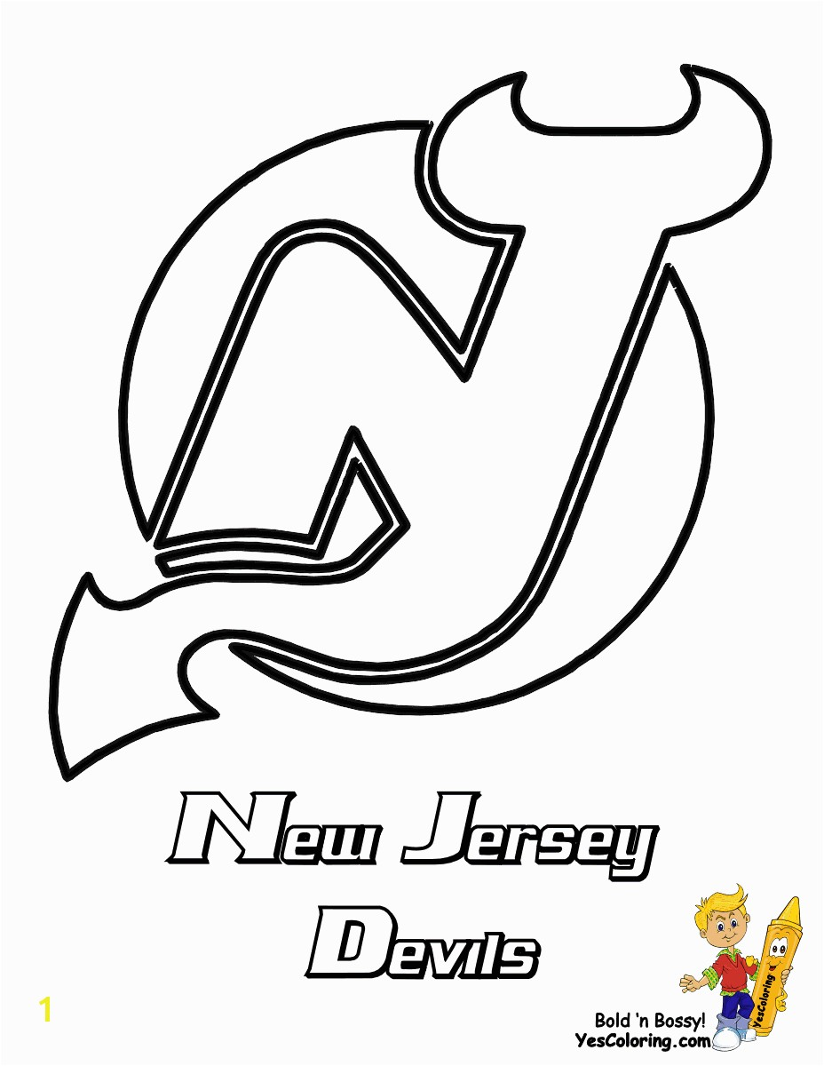 Strange Boston Bruins Hockey Coloring Pages New Jersey Devils NHL Printables Color Doodle