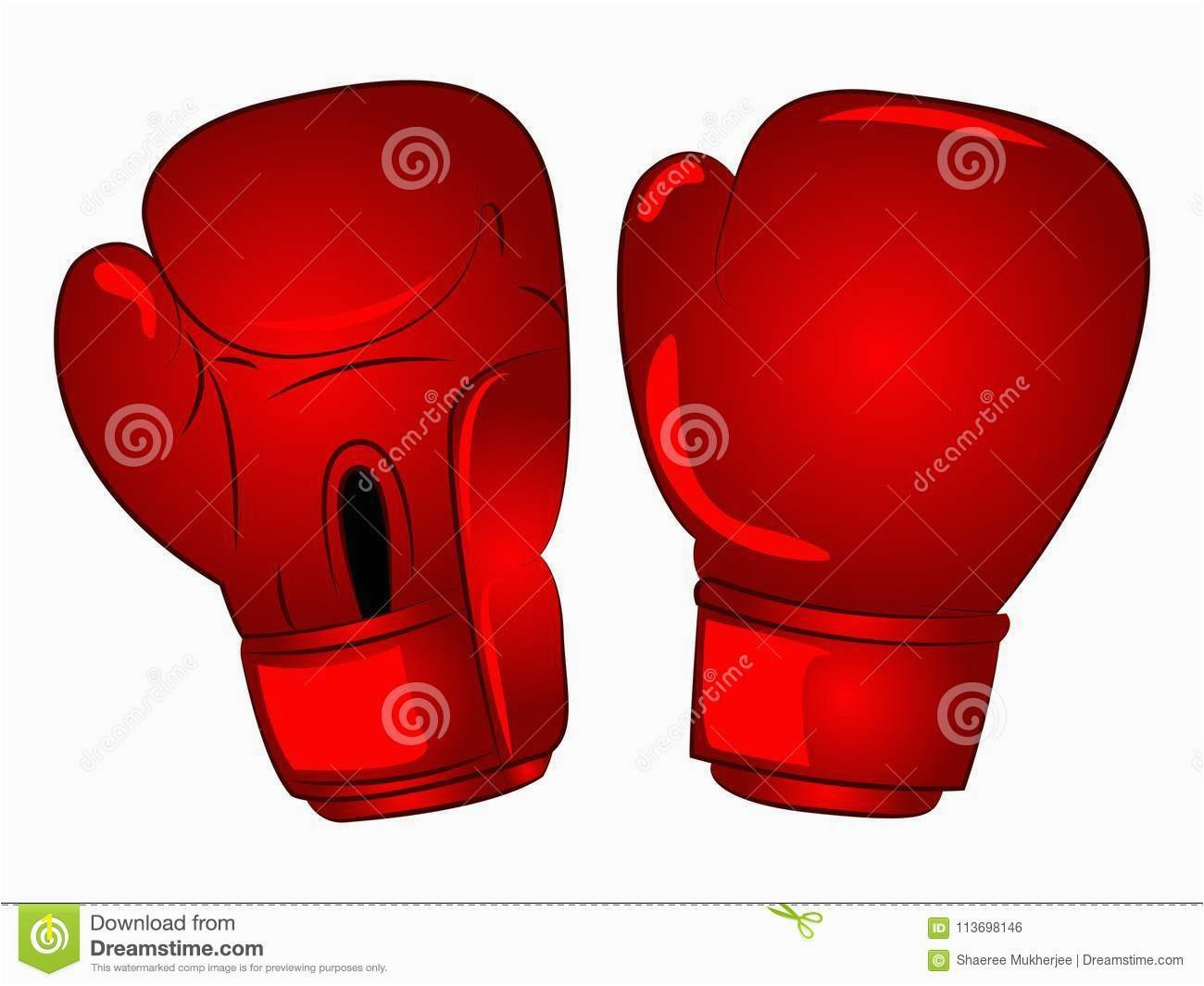 Vector Boxing Gloves Cartoon