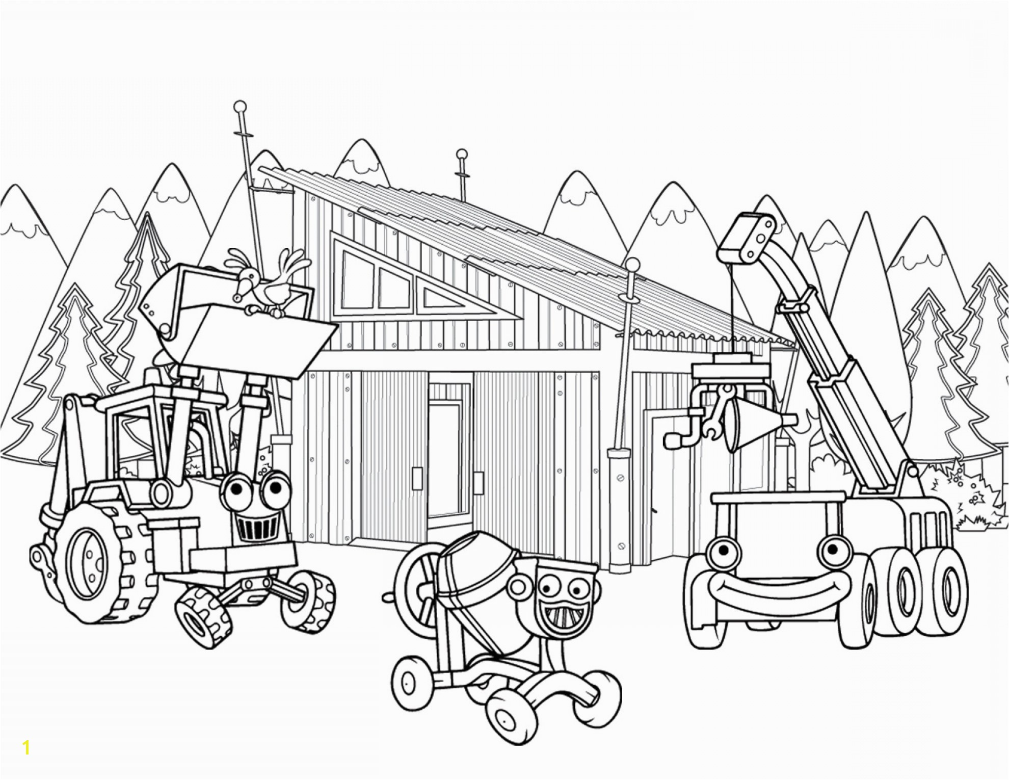 Equipment Coloring Heavy Pagesvector Construction Coloring Pages Building Sheet Ideas For The House