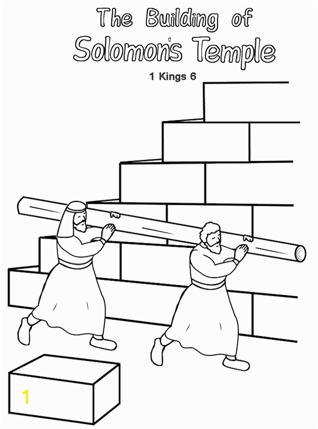 Building the Temple Coloring Pages Building the Temple Printable Booklet