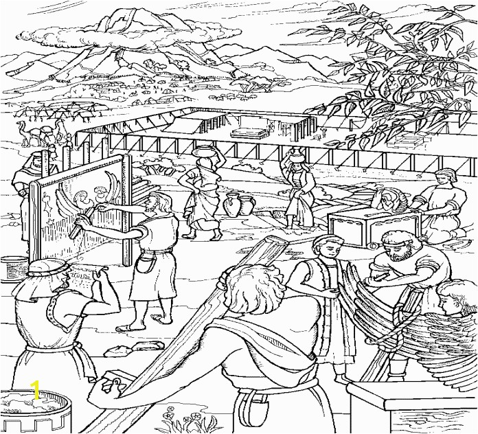 Moses And The Israelites Build The Tabernacle coloring page This coloring page will help you prepare your Sunday school lesson on Exodus 36 8 40 38 on