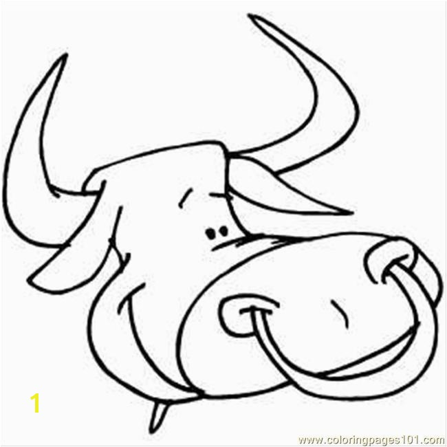 Bull Head Coloring Page