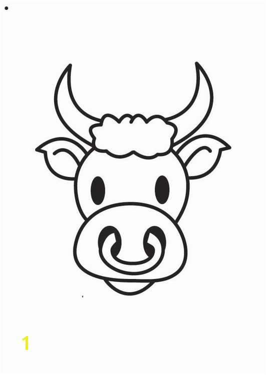 Coloring page Bull s Head