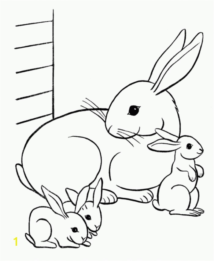 Free Bunny Coloring Pages