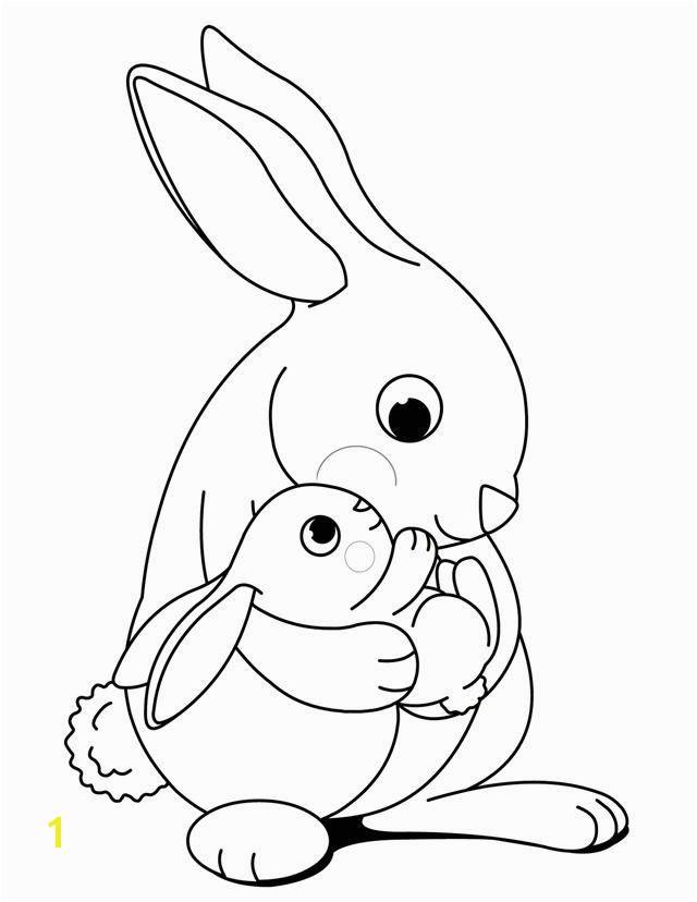 bunny coloring pages free 302
