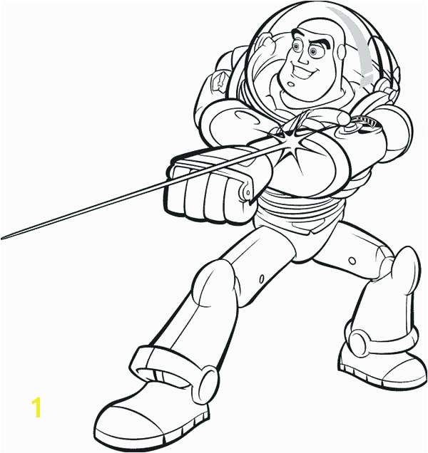 Buzz Coloring Pages line And His Awesome Laser In Toy Story Page Free Woody