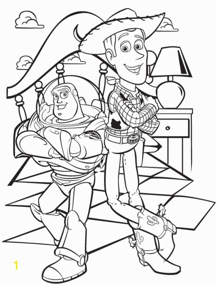 toy story sheriff woody and buzz lightyear coloring page
