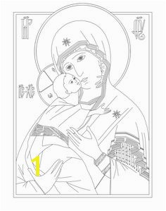 Byzantine Icon coloring pages Coloring page of Our Lady of Vladimir Byzantine coloring
