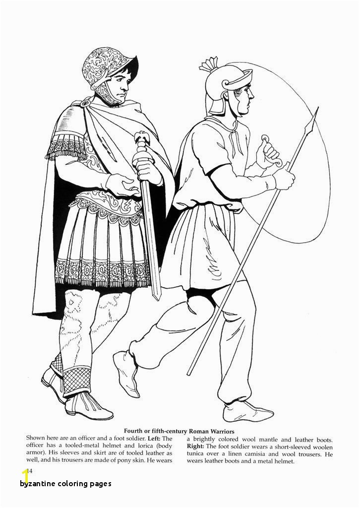 Byzantine Coloring Pages 4th Cent Roman Warriors History Coloring Pages