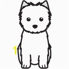 Cairn Terrier Dog Cartoon Cutout
