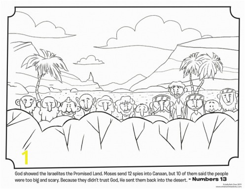 Twelve Spies Coloring Page 56 Best Entering and Conquering the Promised Land