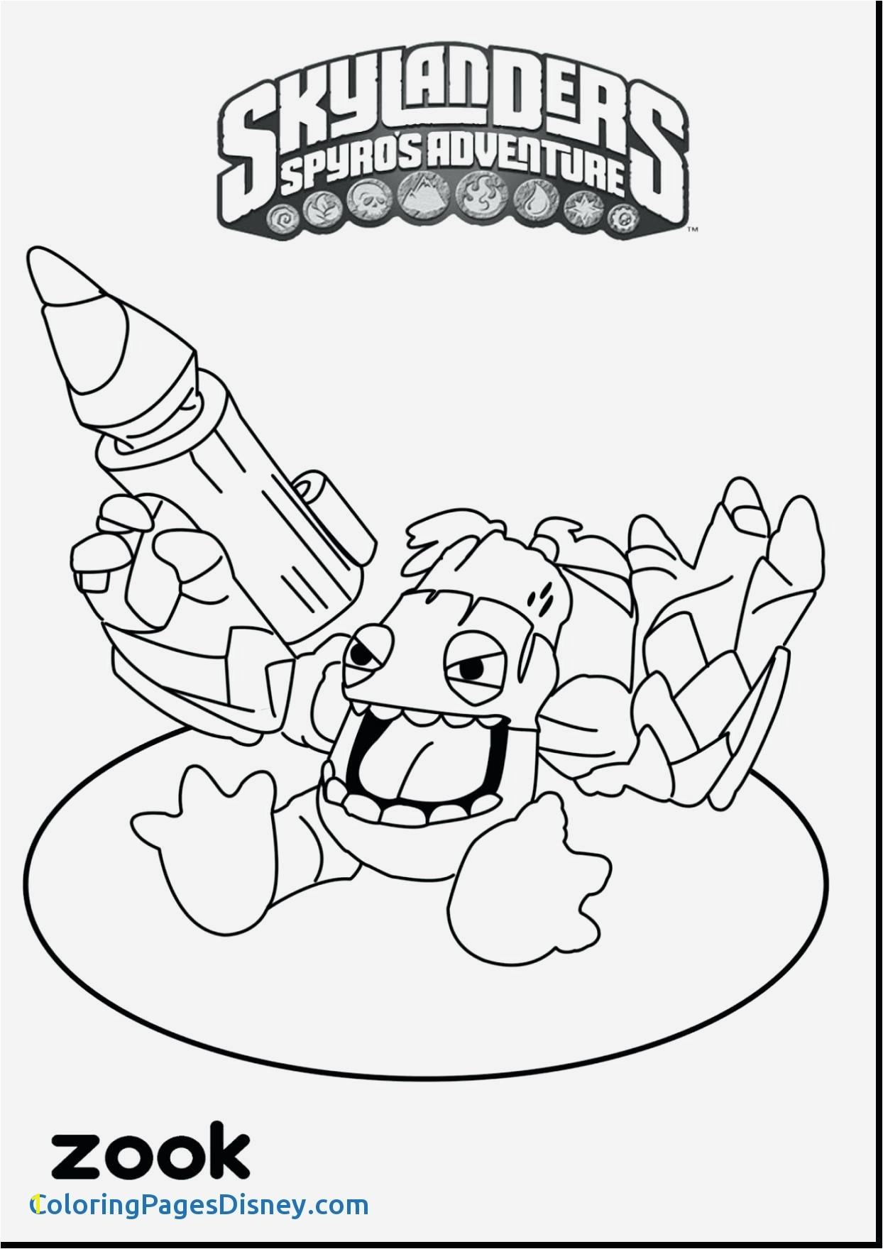 Camo Skylanders Coloring Pages Pluto Coloring Pages Luxury Awesome Coloring Skylander Giants Ruva