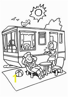 6 Pics of RV Camper Coloring Pages Camping Coloring Pages