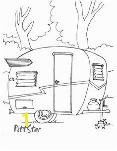 Instant Download 1960 Vintage Shasta Travel Trailer with wings Printable Adult Coloring Page