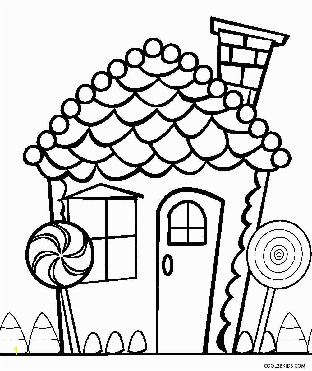 Candy Coloring Pages for Gingerbread House Candy Coloring Pages for Gingerbread House Color Printable