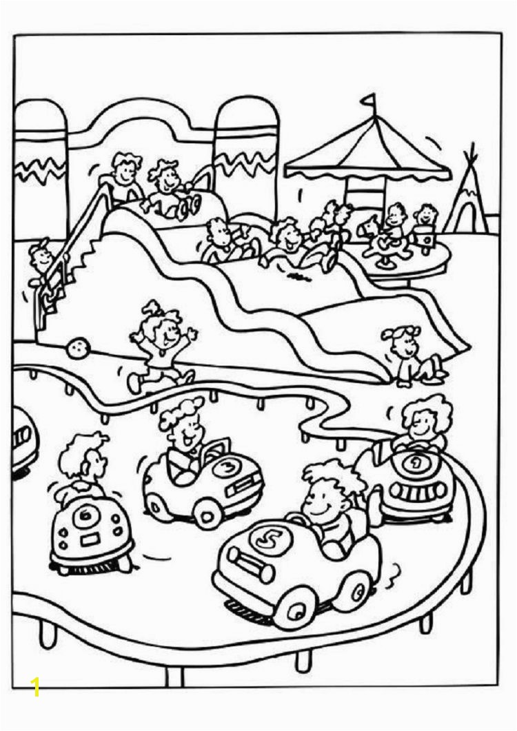 Amusement Park Carnival Coloring Pages