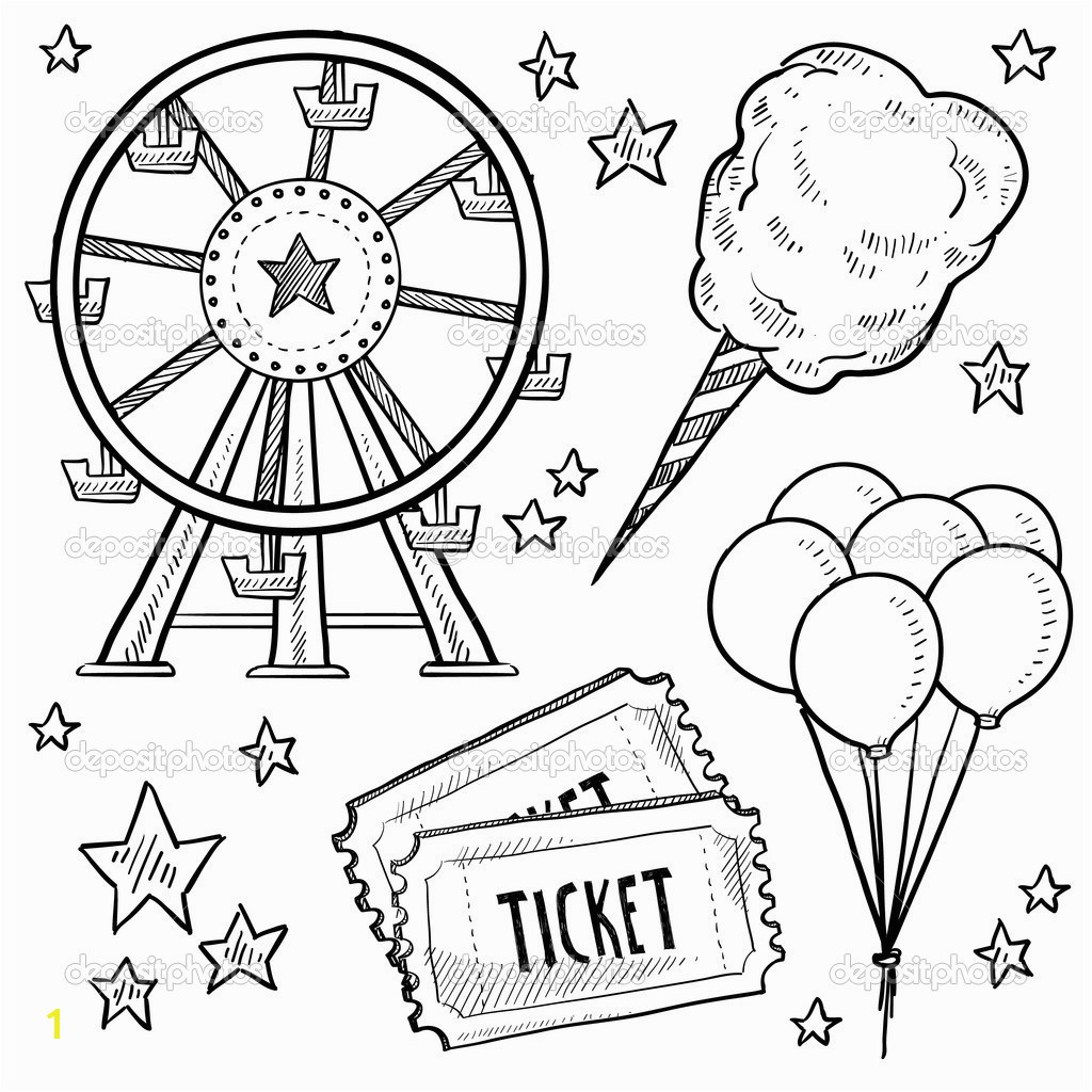 carnival coloring sheets 1635 for county fair pages