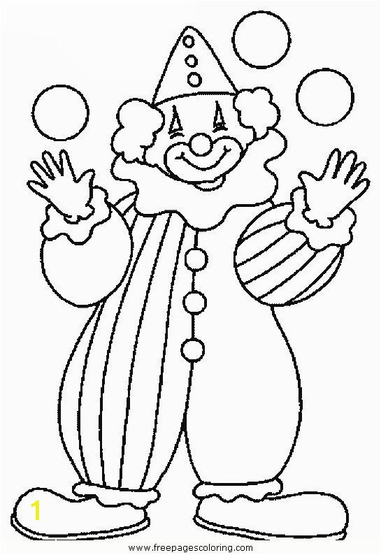 Carnival Coloring Pages Preschool Clown Coloring Pages