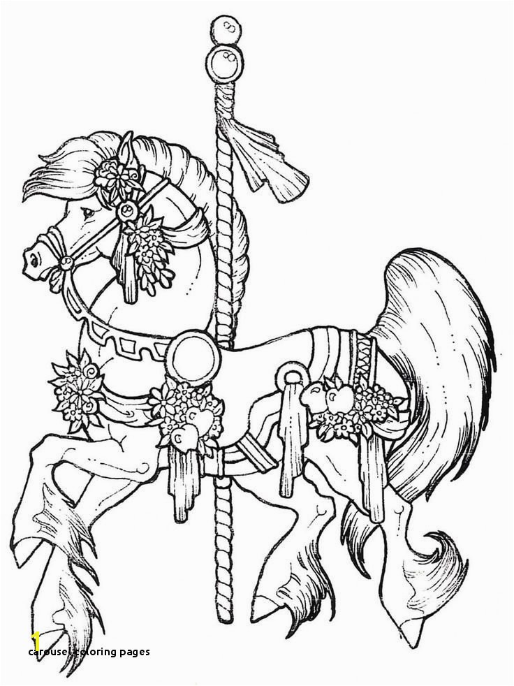 23 Carousel Coloring Pages