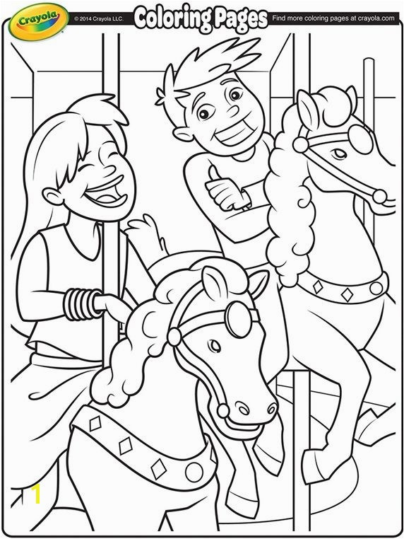 Carousel Horses on crayola