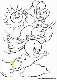 Ghost And Little Witch Coloring For Kids Casper Coloring Pages KidsDrawing – Free Coloring Pages line