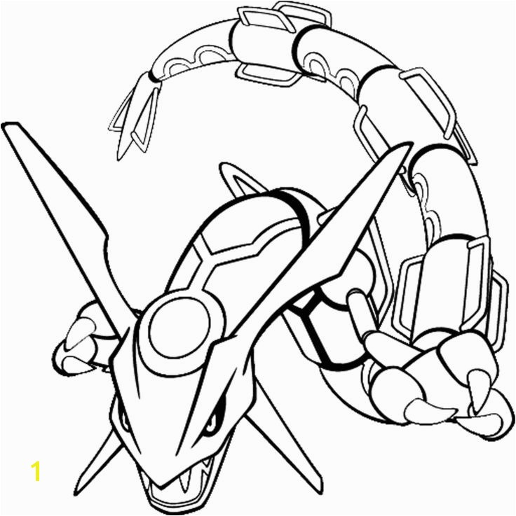 Pokemon Coloring Pages for kids Pokemon rayquaza colouring pages ART colorings drawings etc Pinterest