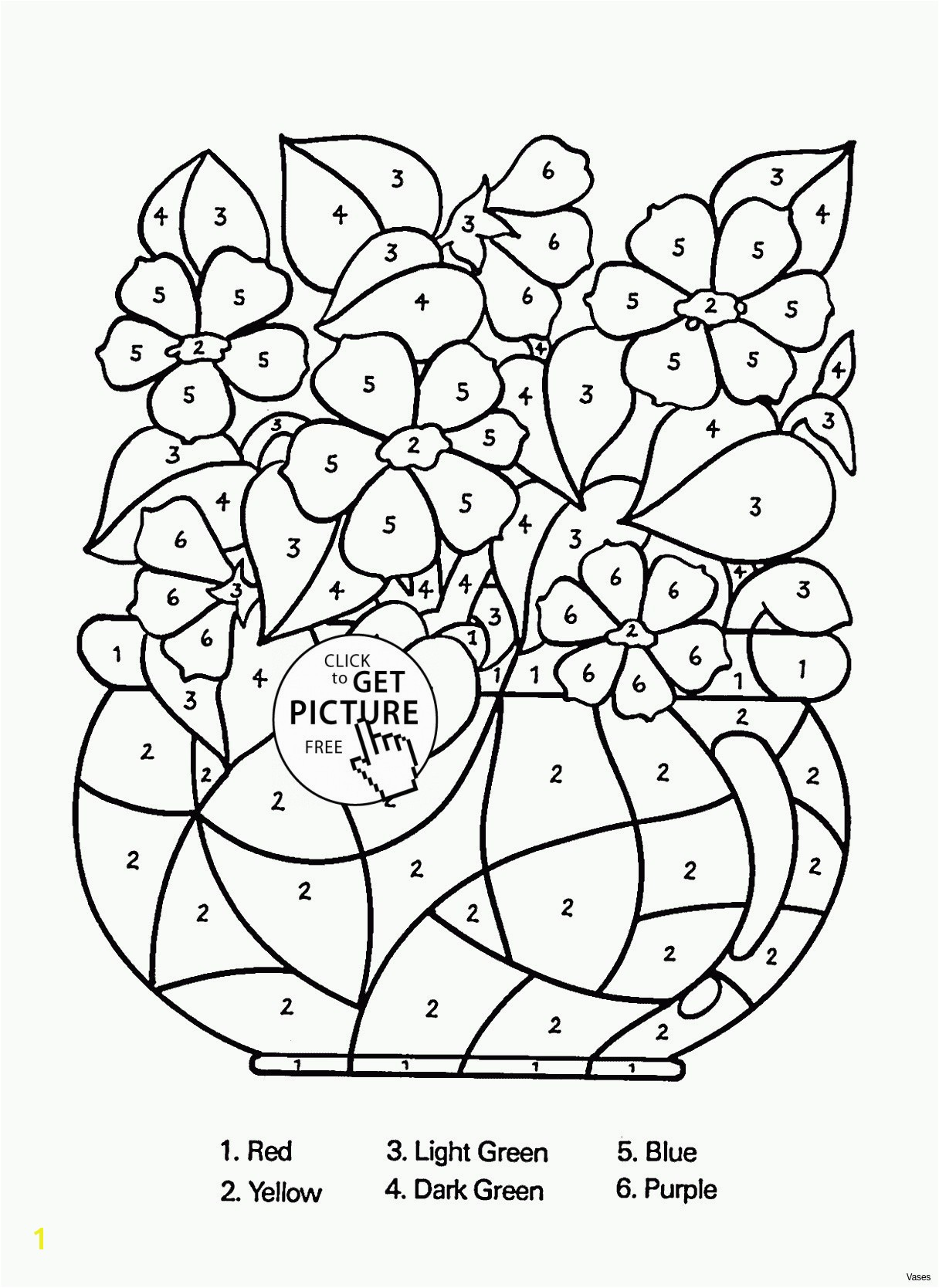 Awesome Cool Vases Flower Vase Coloring Page Pages Flowers In A top I 0d