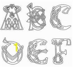 clipart celtic letters